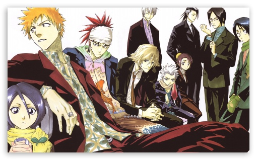 Bleach Characters II HD wallpaper for Wide 5:3 Widescreen WGA ; HD 16:9 High Definition WQHD QWXGA 1080p 900p 720p QHD nHD ; UHD 16:9 WQHD QWXGA 1080p 900p 720p QHD nHD ; Mobile 5:3 16:9 - WGA WQHD QWXGA 1080p 900p 720p QHD nHD ;
