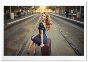 Blonde Woman, City Street Photography HD Wide Wallpaper for Widescreen