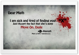 Blood Splatter Typography Maths HD Wide Wallpaper for Widescreen