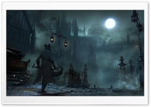 Bloodborne 2015 Game Screenshot HD Wide Wallpaper for Widescreen