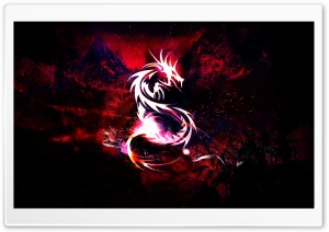 Bloody Red Dragon HD Wide Wallpaper for Widescreen