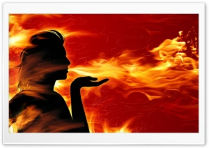 Blowing Fire background HD Wide Wallpaper for 4K UHD Widescreen desktop & smartphone