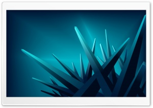 Blue 3D Crystals HD Wide Wallpaper for Widescreen