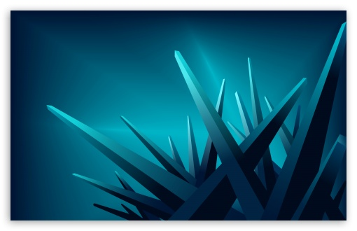 Blue 3d Crystals 4k Hd Desktop Wallpaper For 4k Ultra Hd