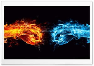 Blue And Red Fire HD Wide Wallpaper for Widescreen