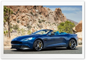 Blue Aston Martin Vanquish Rock HD Wide Wallpaper for Widescreen
