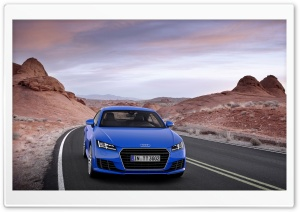 Blue Audi HD Wide Wallpaper for Widescreen