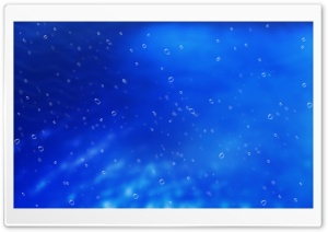 Blue Background With Bubbles HD Wide Wallpaper for Widescreen