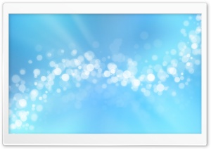 Blue Bokeh HD Wide Wallpaper for Widescreen
