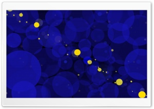 Blue Bokeh Background HD Wide Wallpaper for Widescreen
