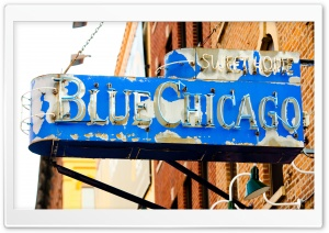 Blue Chicago HD Wide Wallpaper for Widescreen