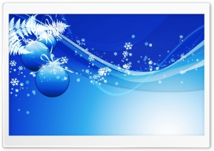 Blue Christmas HD Wide Wallpaper for Widescreen