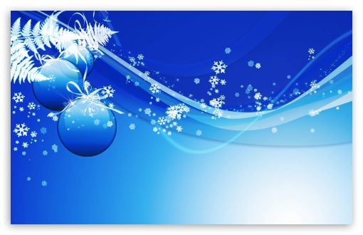 Download Blue Christmas HD Wallpaper