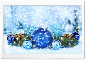 Blue Christmas Decorations 2016 HD Wide Wallpaper for Widescreen