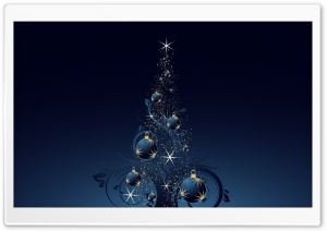 Blue Christmas Tree HD Wide Wallpaper for Widescreen