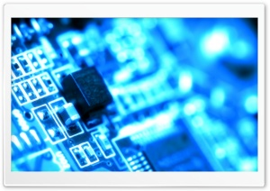 Blue Circuit HD Wide Wallpaper for Widescreen