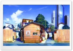 Blue City Skyscrapers HD Wide Wallpaper for 4K UHD Widescreen desktop & smartphone