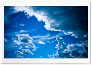 Blue Clouds Ultra HD Wallpaper for 4K UHD Widescreen desktop, tablet & smartphone