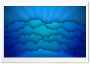 Blue Clouds HD Wide Wallpaper for Widescreen