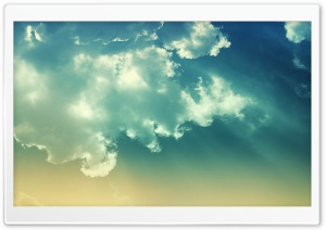 Blue Clouds HD Wide Wallpaper for 4K UHD Widescreen desktop & smartphone
