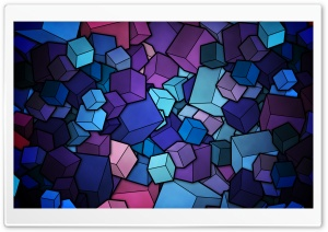 Blue Cubes Ultra HD Wallpaper for 4K UHD Widescreen desktop, tablet & smartphone