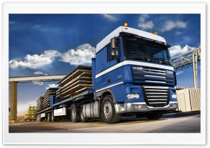 Blue DAF XF105 Truck HD Wide Wallpaper for 4K UHD Widescreen desktop & smartphone