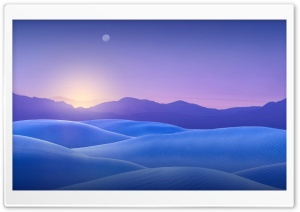 Blue Desert HD Wide Wallpaper for Widescreen