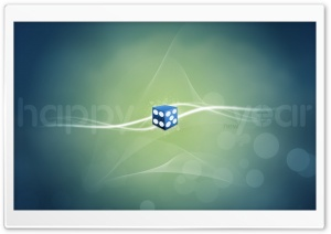 Blue Dice HD Wide Wallpaper for Widescreen