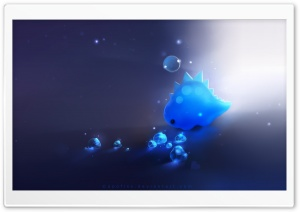 Blue Dino HD Wide Wallpaper for Widescreen