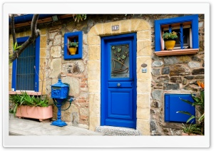 Blue Door HD Wide Wallpaper for Widescreen