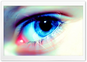 Blue Eye Macro HD Wide Wallpaper for Widescreen