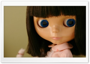 Blue Eyes Doll HD Wide Wallpaper for Widescreen