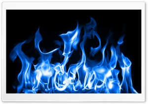 Blue Fire HD Wide Wallpaper for 4K UHD Widescreen desktop & smartphone