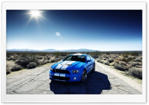 Blue Ford Shelby HD Wide Wallpaper for Widescreen