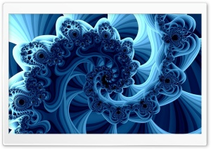 Blue Fractals HD Wide Wallpaper for Widescreen