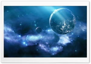 Blue Galaxy HD Wide Wallpaper for Widescreen