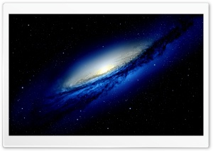 Blue Galaxy HD Wide Wallpaper for 4K UHD Widescreen desktop & smartphone