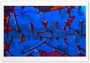 Blue Graffitti HD Wide Wallpaper for 4K UHD Widescreen desktop & smartphone