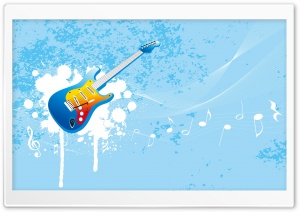 Blue Guitar HD Wide Wallpaper for Widescreen