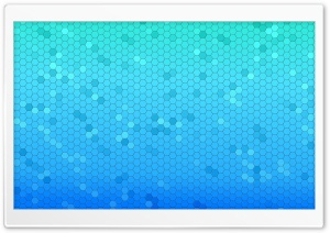 Blue Haxagons Pattern HD Wide Wallpaper for Widescreen