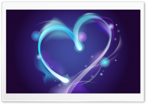 Blue Heart HD Wide Wallpaper for Widescreen