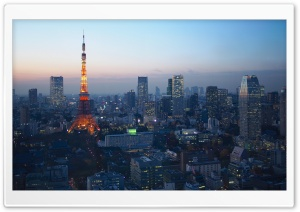 Blue Hour Over Tokyo HD Wide Wallpaper for 4K UHD Widescreen desktop & smartphone
