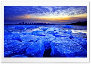 Blue Ice Dawn HD Wide Wallpaper for Widescreen
