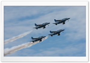 Blue Impulse HD Wide Wallpaper for Widescreen