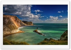 Blue Lagoon Durdle Door Dorset England HD Wide Wallpaper for 4K UHD Widescreen desktop & smartphone