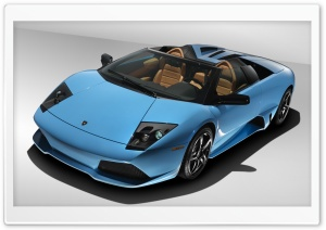 Blue Lamborghini Reventon HD Wide Wallpaper for Widescreen