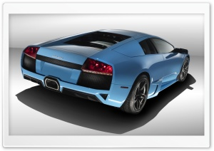 Blue Lamborghini Reventon 1 HD Wide Wallpaper for Widescreen
