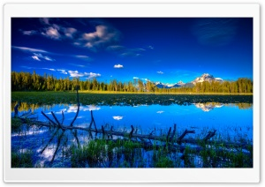 Blue Landscape HD Wide Wallpaper for Widescreen