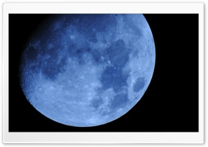Blue Moon HD Wide Wallpaper for Widescreen