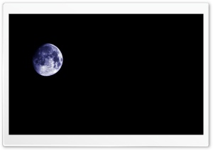 Blue Moon At Night HD Wide Wallpaper for Widescreen